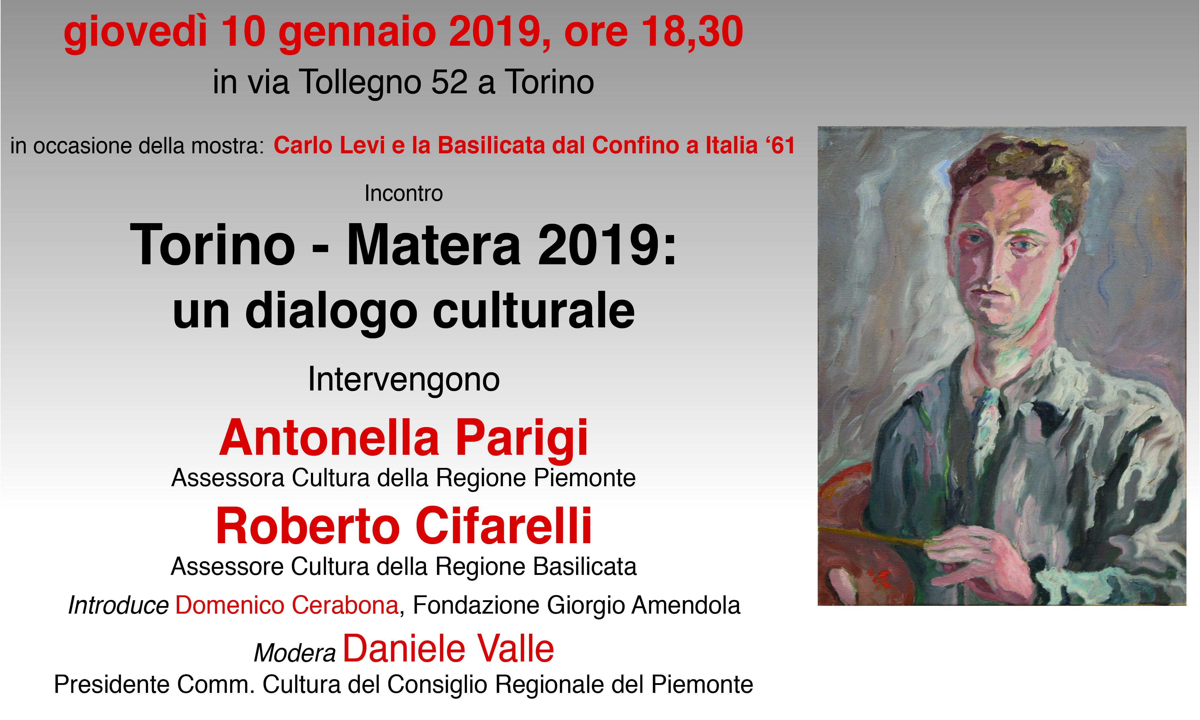 Incontro: Torino – Matera 2019 Un Dialogo Culturale