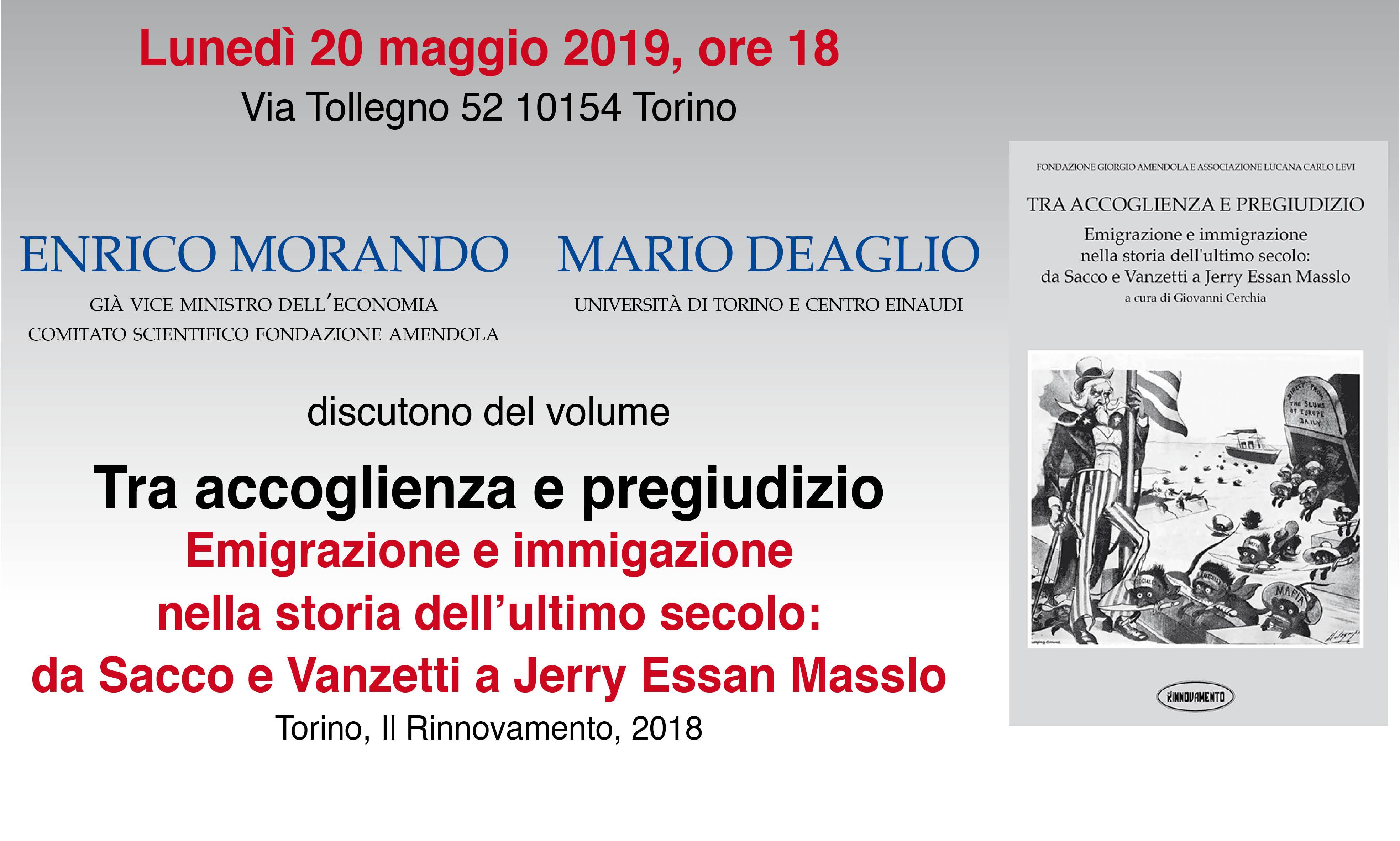 """Enrico Morando E Mario Deaglio Discutono Del Libro """"Tra Accoglienza E Pregiudizio"""""""