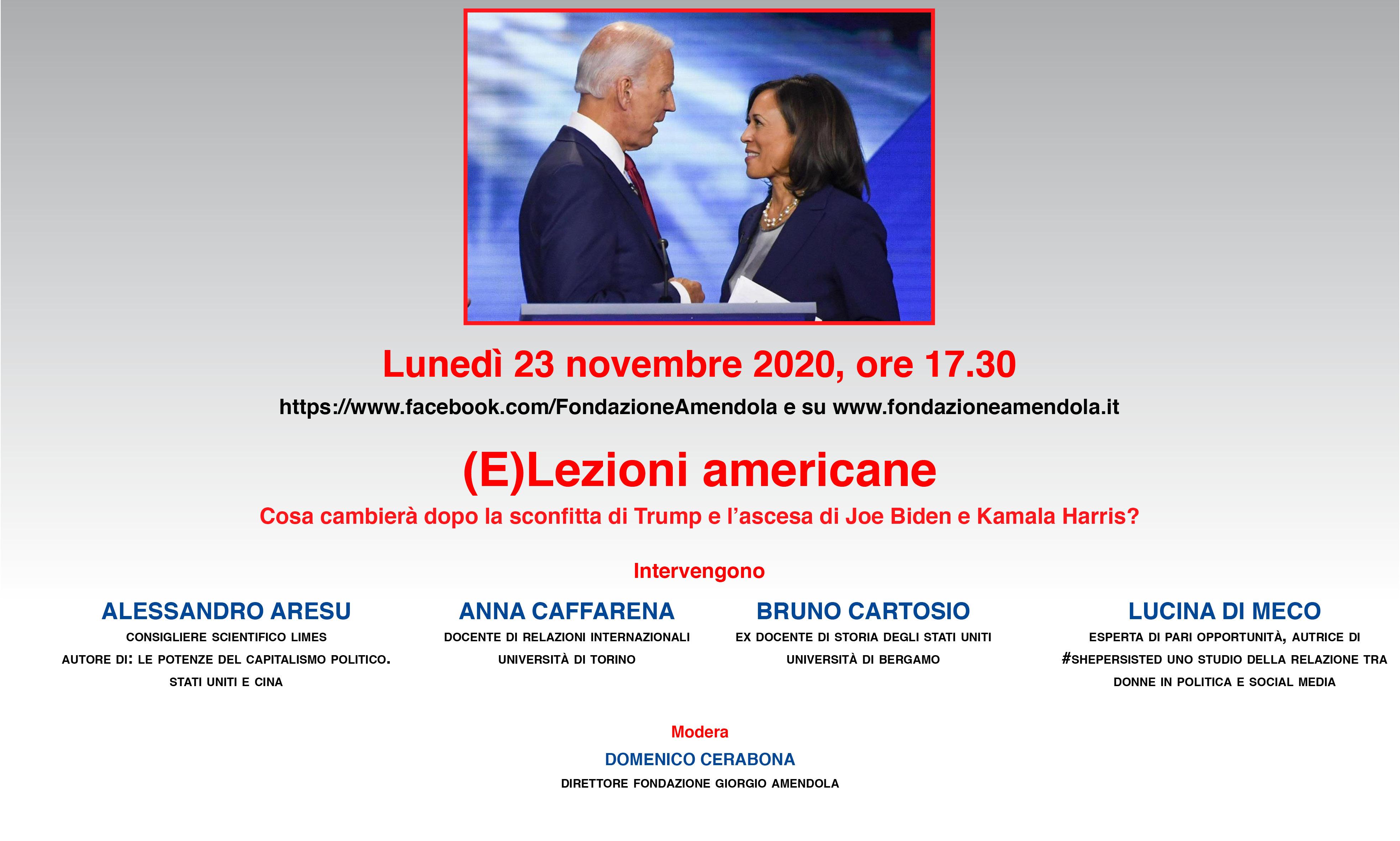 (E)Lezioni Americane – Convegno 23 Novembre Ore 17.30